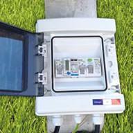1 coffret de protection électrique avec compteur de production d'énergie